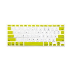 Apple Mac-book Air / Mac-book Pro JH Silicone Keyboard Cover Skin 11.6 Inch (Green and White Candy) (Intl)
