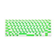 JH Silicone Keyboard Cover Skin 11.6 Inch (Mosaic White Green)
