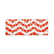 JH Silicone Keyboard Cover Skin 17 Inch (Wavy Orange) - Intl