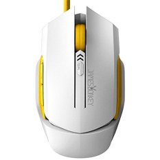 JM GAMING James Donkey 112 Ergonomic Optical 2000/1600/1000 DPI High Precision Optical Wired USB Gaming Mouse Mice For PC And Mac, 6 Buttons, Side Control, Micro Switches (White)