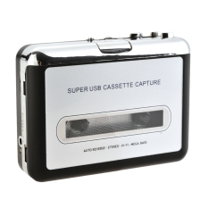 GE Silver Tape To PC MP3 CD USB Cassette To MP3 Converter Audio Music Capture Player (Intl)