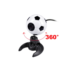 GE USB 2.0 Football 300K Pixels Webcam Web Cam Camera PC Laptop + Mic (Intl)