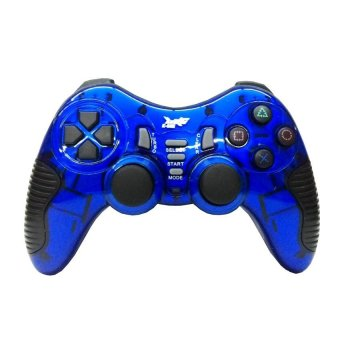 K-One Gamepad Stik Wireless 2.4G Support PS2 / PS3 / PC / AndroidTV - Biru