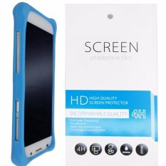 Kasing Silikon Universal Bumper Case Wadah Cover Casing - Biru + Gratis 1 Clear Screen Protector untuk ASUS ZenFone Go TV (ZB551KL)