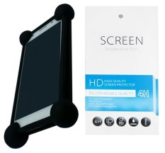 Kasing Universal Wadah Cover Silikon Case Casing - Hitam + Gratis 1 Clear Screen Protector for Acer Liquid Z500