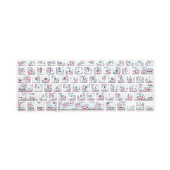 Keyboard Protector 17 Inch For Apple Mac-book Air / Mac-book Pro Floral - Intl