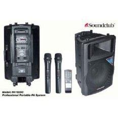 KingElektronik Speker Aktif Soundclub Pa 155 Sc&Amp;#X000A;( 15 Inch )Bluetooth