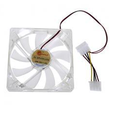 LED Light CPU Cooling Fan Computer PC Clear Case Quad 12CM Heatsink Red (Intl)