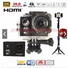 Kogan Action Camera 4K UltraHD DV 16MP WIFI FREE TONGSIS bluetooth dan TRIPOD