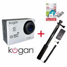 Kogan Wifi 12MP [Paket] Action Camera + Memory Sandisk 16Gb Class 10 + Monopod Attanta SMP-07
