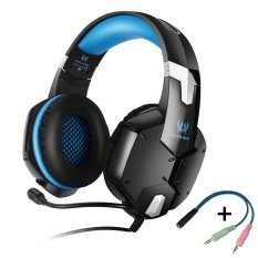 Kotion Each G1200 Professional Esport Gaming Stereo Bass Headset Over Ear 3.5mm Wired With Microphone - Biru