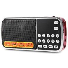 L - 088AM Portable Mini Speaker MP3 Audio Player With Flashlight Support TF AM Radio