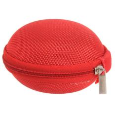 Hang-Qiao Carrying Hard Case Storage Bag Pouch For Headphone Earbud Earphone (Red) (Intl)