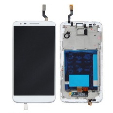 LCD Digitizer Assembly With Frame Touch Screen Glass Panel + LCD Display Panel Replacement With Tools For LG G2 D800 (White) (Intl)