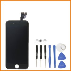 LCD Touch Screen Digitizer Frame Assembly Full Set LCD Touch Screen Replacement For IPhone 6 (4.7inch) (Black)