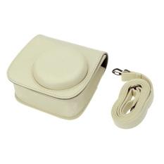Leather Camera Case Bag Cover For Fuji Fujifilm Instax Mini8 Mini8s Single Shoulder Bag (White) (Intl)
