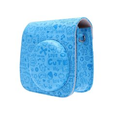 Leather Cartoon Camera Case Bag Cover For Fuji Fujifilm Instax Mini8 Mini8s (Blue) (Intl)