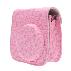 Leather Cartoon Camera Case Bag Cover For Fuji Fujifilm Instax Mini8 Mini8s (Pink) (Intl)