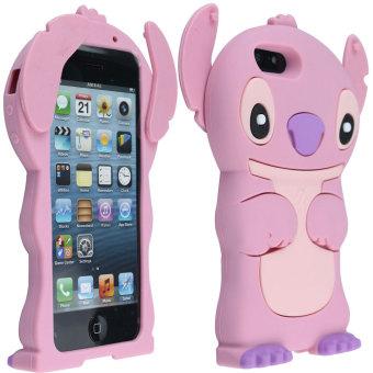 ... Leegoal Lucu 3D Stitch Dengan Karet Silikon Lembut Telinga Bergerak Penutup Case Cocok Untuk New IPhone