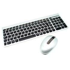 Lenovo Ultraslim Plus Wireless Keyboard dan Mouse SM-8861 Lang USA - Silver