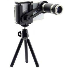 Lensa Telezoom 8x for Smartphone Include Tripod Mini - Hitam