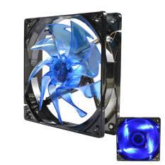 Liangun Computer Case Fan 120mm Quiet Edition High Airflow LED Fan For Computer Case (Blue)