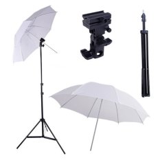 Local - Paket Studio Light Stand 190cm + B Bracket + Payung Transparan 80cm