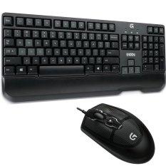 Logitech G100S Gaming Keyboard Mouse Combo - Hitam
