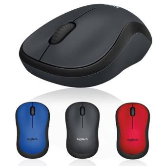 Logitech M221 Mouse Wireless Silent Original - Hitam (Black)