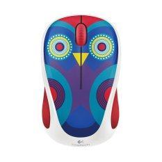 Logitech M238 Wireless Mouse - Colorful Play Mouse - Owl