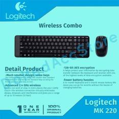 Logitech Wireless Keyboard Mouse Combo MK220 - Hitam