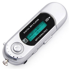 GoSport USB MP3 Music Player Digital LCD Screen Support 8/16/32GB Voice Record TF Card (White)
