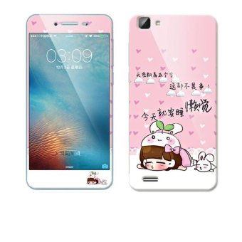 Luxury 3D Painting Front+Back Full Case Cover Color Tempered GlassCase For Vivo Y35 /