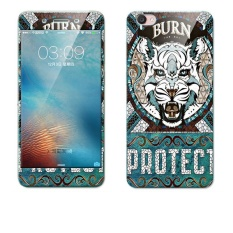 Luxury 3D Painting Front Back Full Case Cover Color Tempered Glass Case For Vivo Y55