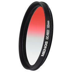 MENGS 52mm Graduated RED Lens Filter With Aluminum Frame For Canon Nikon Sony Fuji Pentax Olympus Etc Digital And DSLR Camera