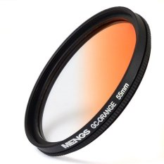 MENGS 55mm Graduated ORANGE Lens Filter With Aluminum Frame For Canon Nikon Sony Fuji Pentax Olympus Etc DSLR Camera