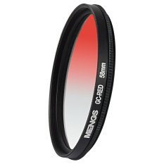 MENGS 58mm Graduated RED Lens Filter With Aluminum Frame For Canon Nikon Sony Fuji Pentax Olympus Etc Digital Camera