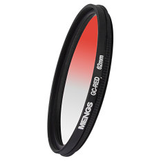 MENGS 62mm Graduated RED Lens Filter With Aluminum Frame For Canon Nikon Sony Fuji Pentax Olympus Etc Camera