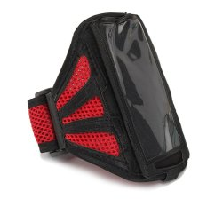 Mesh Gym Outdoor Running Sport Jogging Armband Case Cover For IPhone 6 6 + Plus Red
