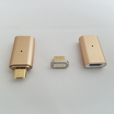 Micro USB Magnetic Charging Charger Match Cable Adapter For Samsung Android Phones (Gold)