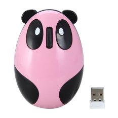 Miimall M1.2.4GHz Wireless Optical Cute Panda Computer Mouse (Pink / Black) - Intl
