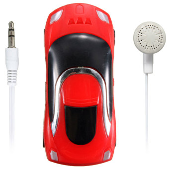 Mini Car Shape MP3 Music Player With Bundle USB And Earphone Hole (Red)