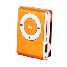 Mini Clip Metal Mp3 Player with Micro / TF Slot For Mini SD Card Mp3 Orange