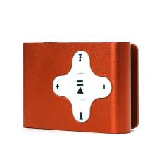 Mini Clip Metal USB MP3 Player Support Micro SD TF Card Music Media Orange