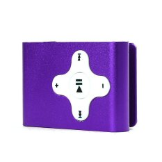 Mini Clip Metal USB MP3 Player Support Micro SD TF Card Music Media Purple