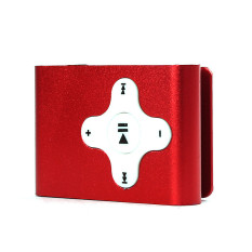 Mini Clip Metal USB MP3 Player Support Micro SD TF Card Music Media Red