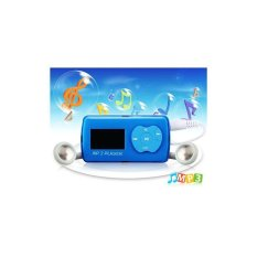 Mini LCD Screen Apple Design Keys MP3 Player with TF Card Reader Blue