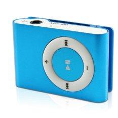 Mini MP3 Player Aluminium Clip USB Support Micro SD TF 2 4 8 GB Blue