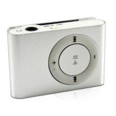 Mini MP3 Player Aluminium Clip USB Support Micro SD TF 2 4 8 GB Silver