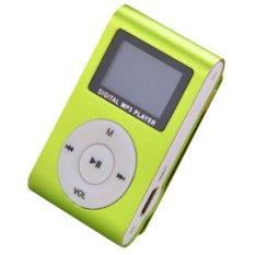 Mini MP3 Player Clip USB FM Radio LCD Screen Support For 32GB Micro SD (Green) (Intl)